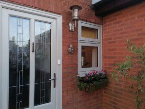 door and side window after