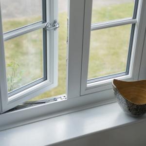 open view of window