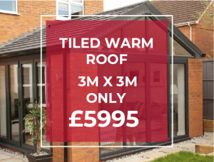 TILED WARM ROOF NO DOWNLIGHTS